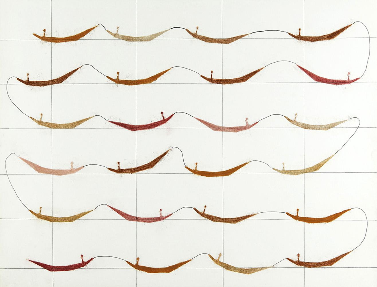 Aaneen  -  potlood & pastelkrijt  -  50x70 cm -  verkocht