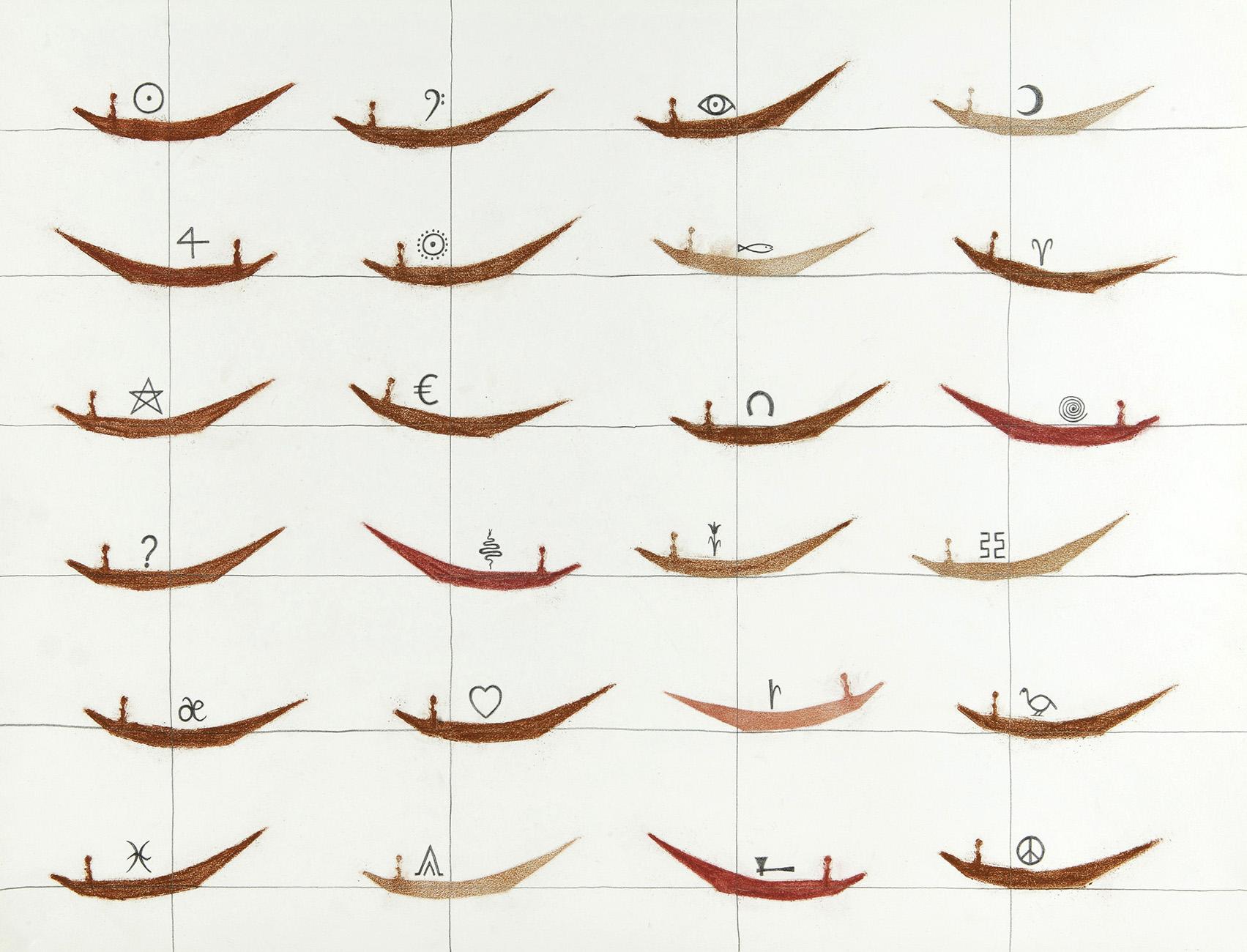 Bestemming - potlood & pastelkrijt - 50x70 cm - verkocht