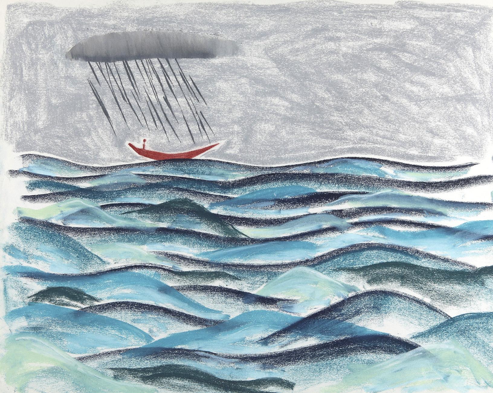 Geen titel 8 - potlood & pastelkrijt - 50x70 cm - €350