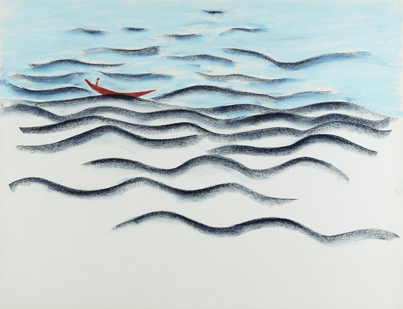 Droom - potlood & pastelkrijt - 50x70 cm - verkocht
