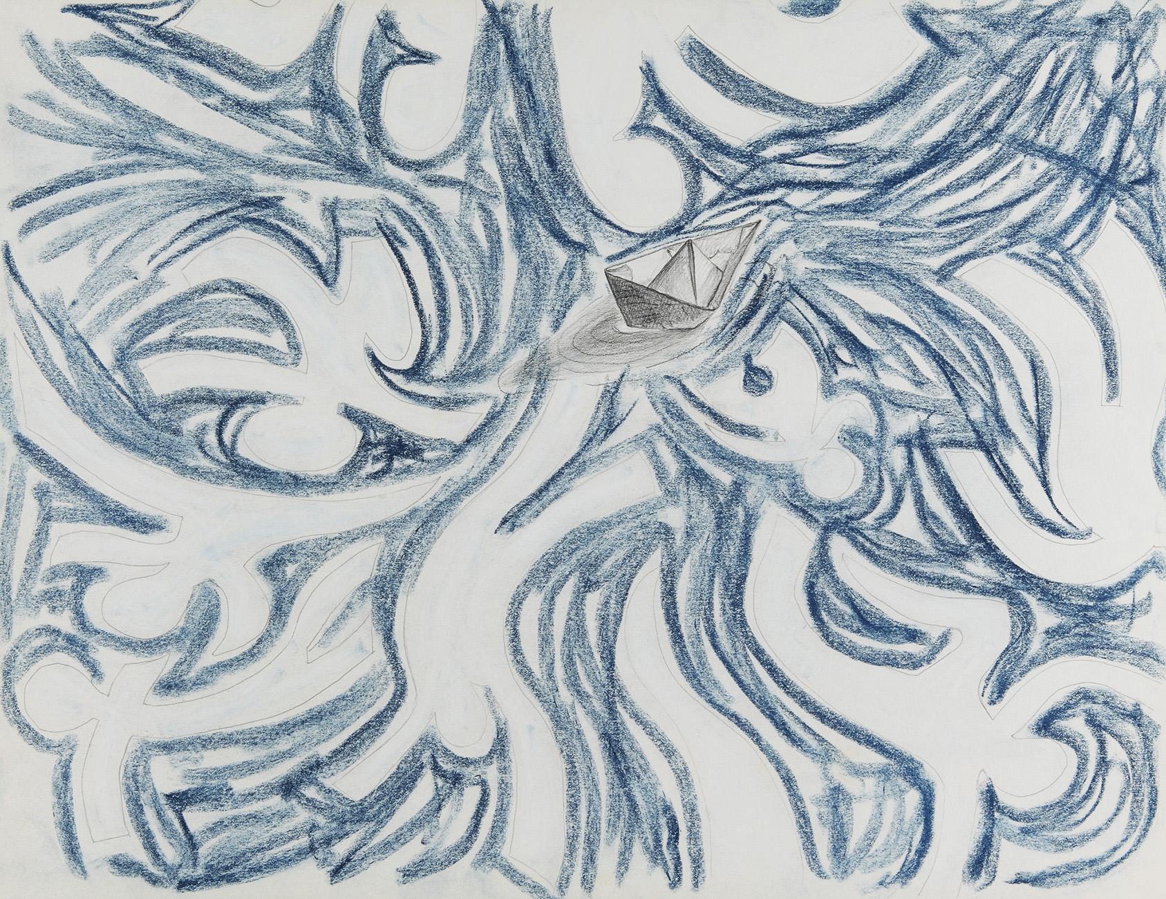 Stromen - potlood & pastelkrijt - 50x70cm - €450