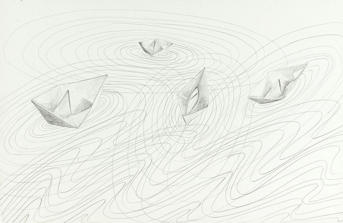 Frans - potlood - 30x45 cm - €295