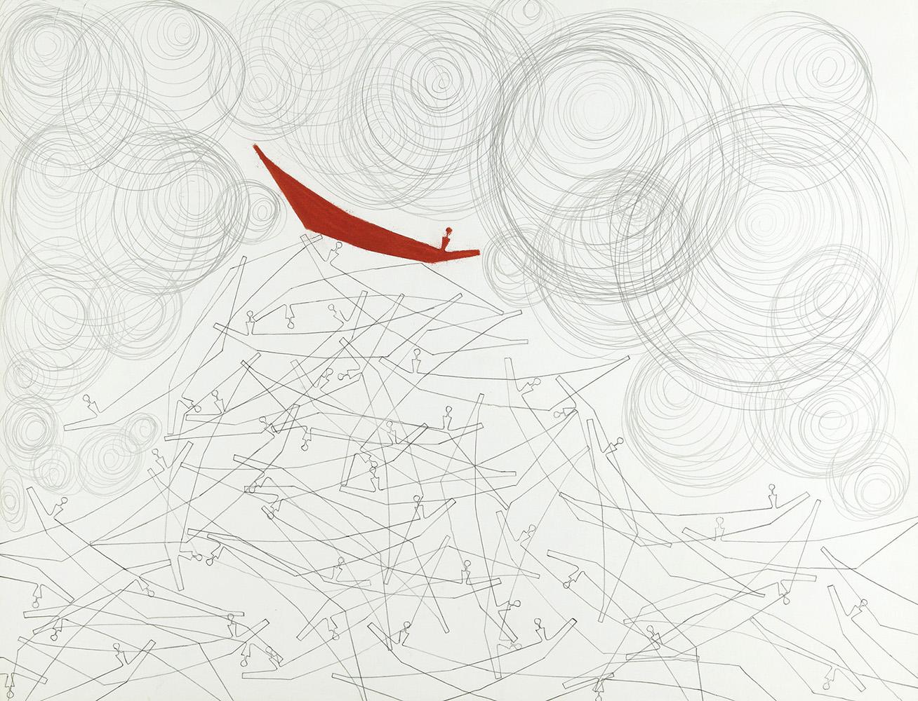 Krachten  -  potlood & pastelkrijt  -  50x70 cm - verkocht