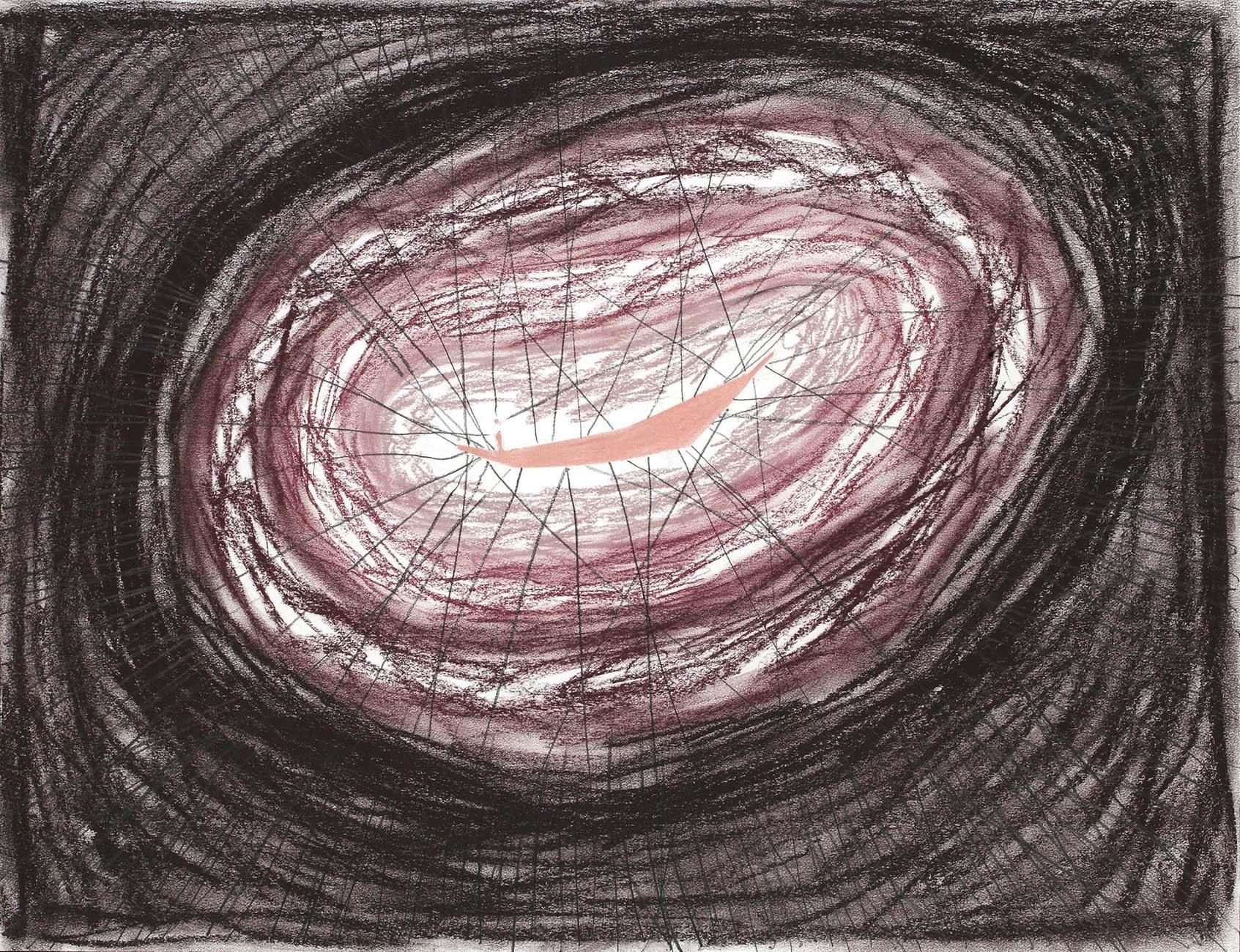 Naalden   -  potlood & pasteltkrijt  -  50x70 cm