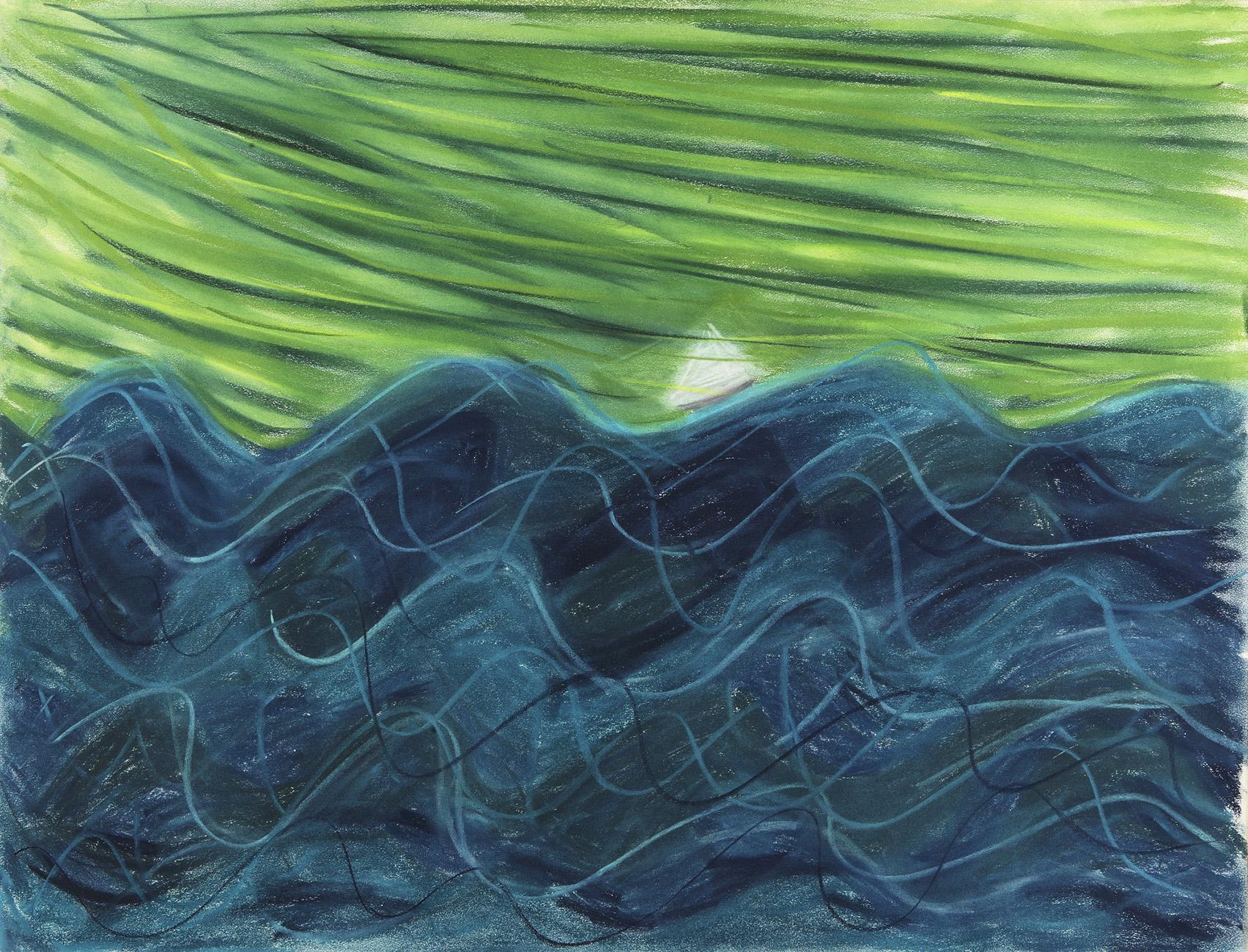 Phynella - potlood & pastelkrijt - 50x70 cm - verkocht