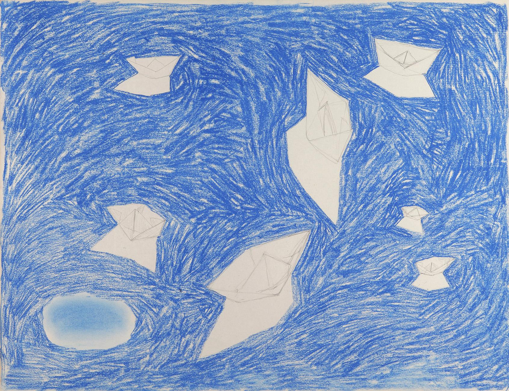 Geen titel 2 -  potlood & pastelkrijt  -  50x70 cm - €450