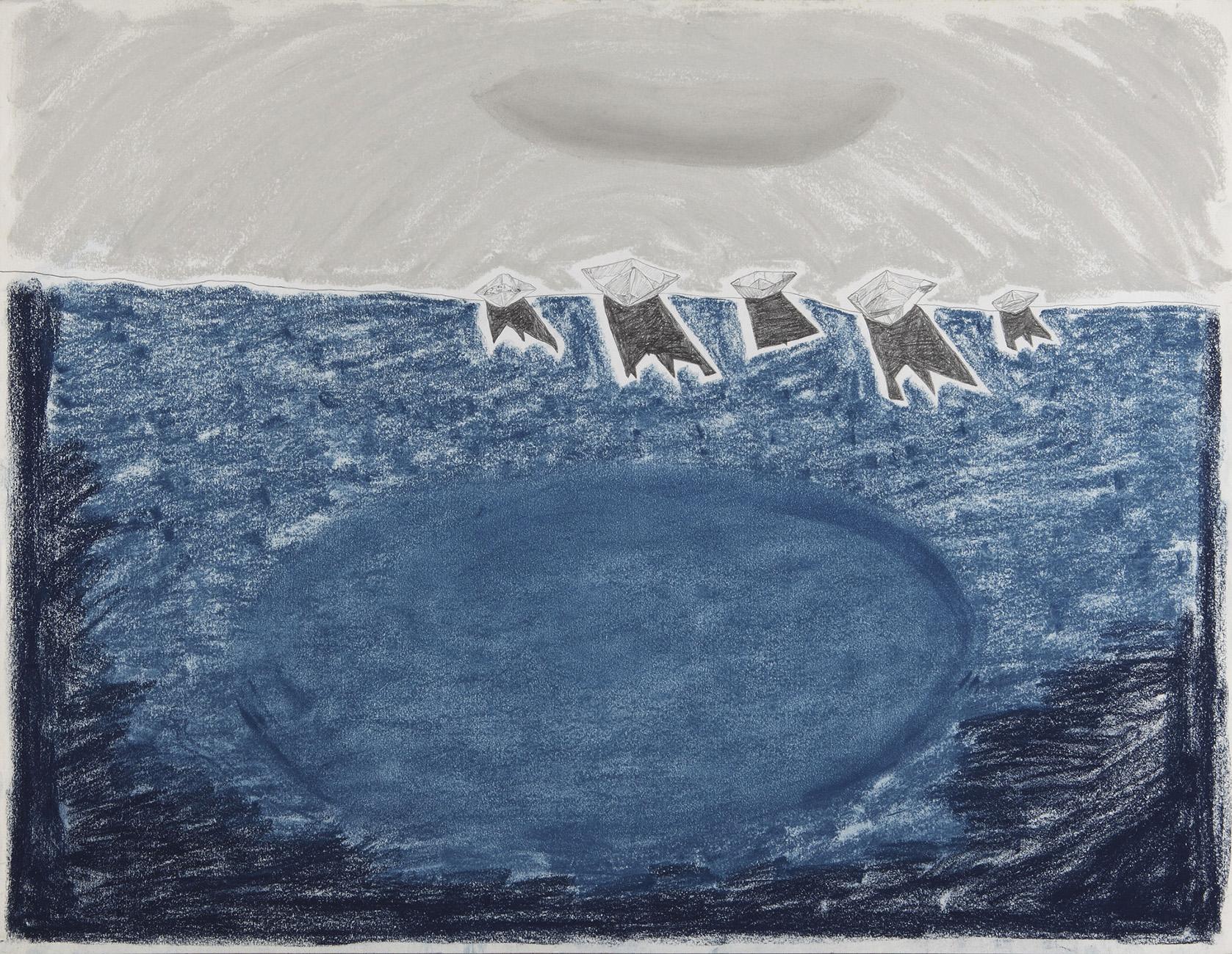 Geen titel  -  potlood & pastelkrijt - 50x70 cm - €450