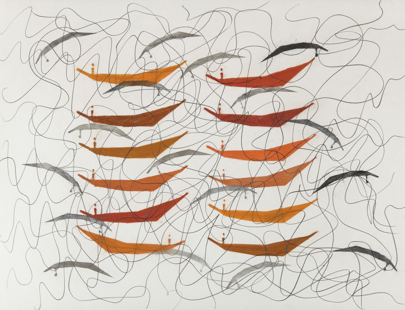Geen titel 1 -  potlood & pastelkrijt  -  50x70 cm - €450