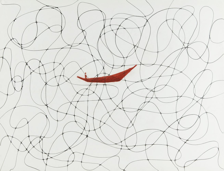 Geen titel 5 - potlood & pastelkrijt - 50x70 cm - €450