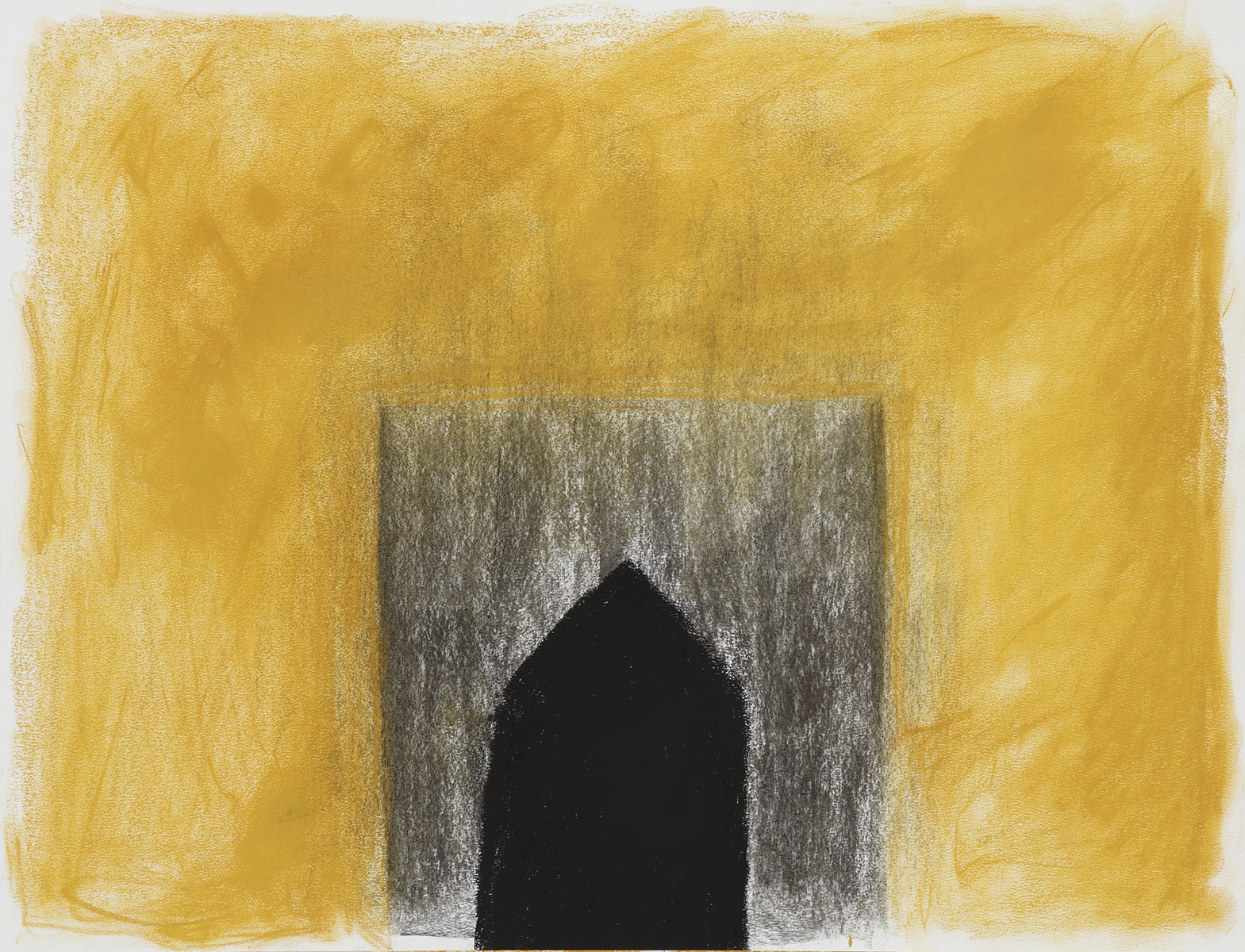 Huis 10 - OI inkt, pastelkrijt & houtskool - 50 x 70 cm
