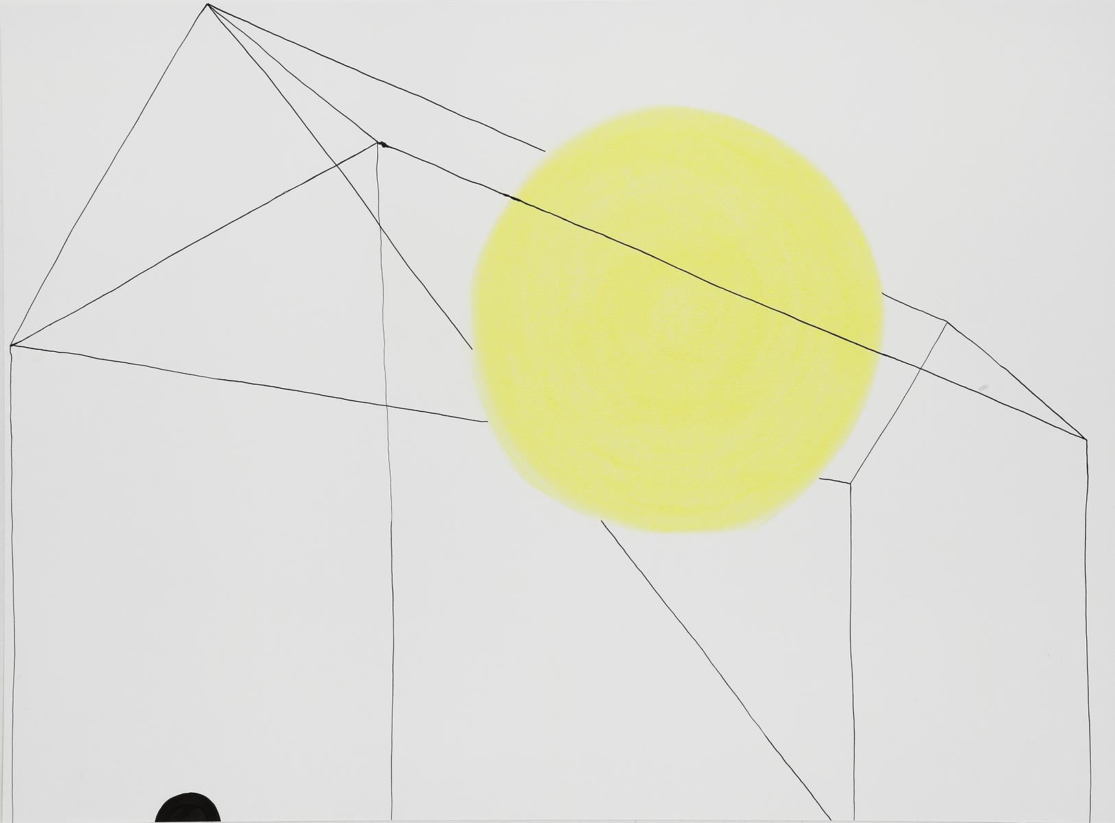 Huis 24 - Oost-Indische inkt & pastelkrijt - 50 x 70 cm
