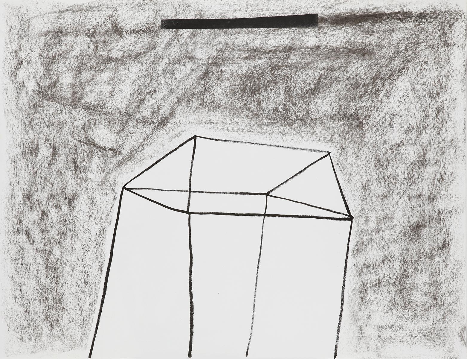 Huis 3 - Oost-Indische inkt & houtskool - 50 x 70 cm