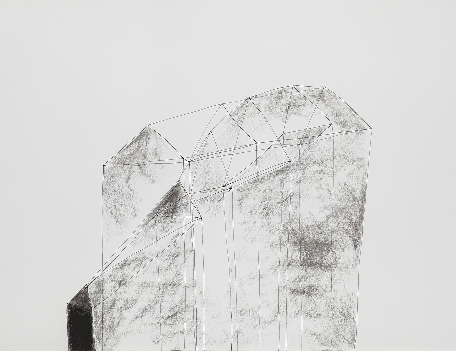 Huis 7 - Oost-Indische inkt & houtskool - 50 x 70 cm